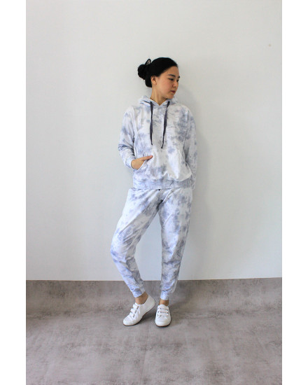 PO BUNDLING TIEDYE ACTIVE HOODIE SET GREY