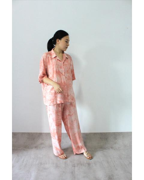 bundling maxel shirt + pants peach