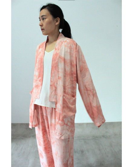 bundling ifka outer + maxel  pants peach