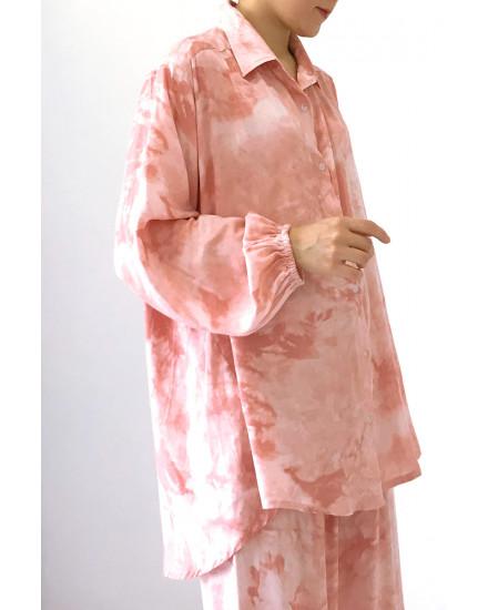 bundling gobby shirt + maxel  pants peach
