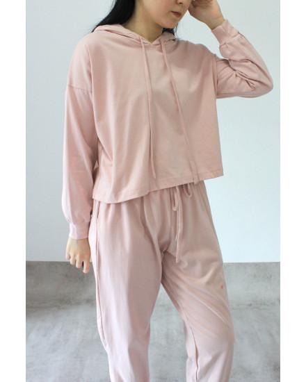 everyday hoodie dusty pink