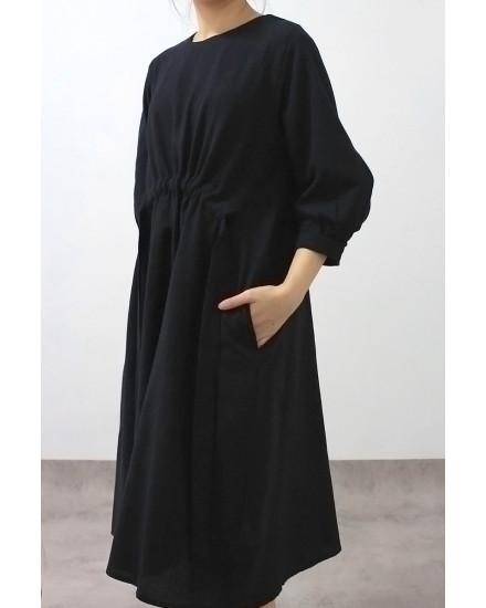 Mako dress indigo