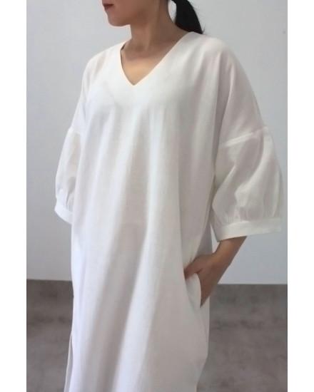 MAKO DRESS WHITE