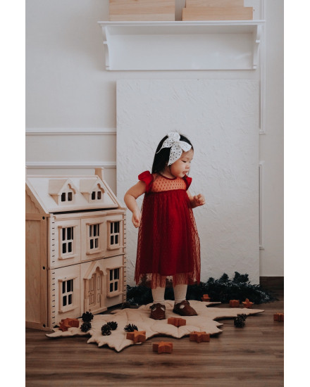 ELFA DRESS RED