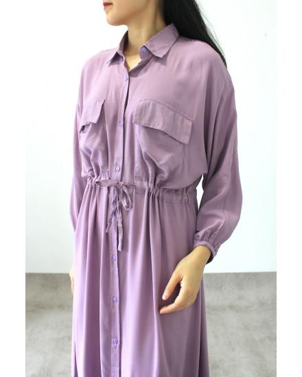 Galida Dress Powder Purple