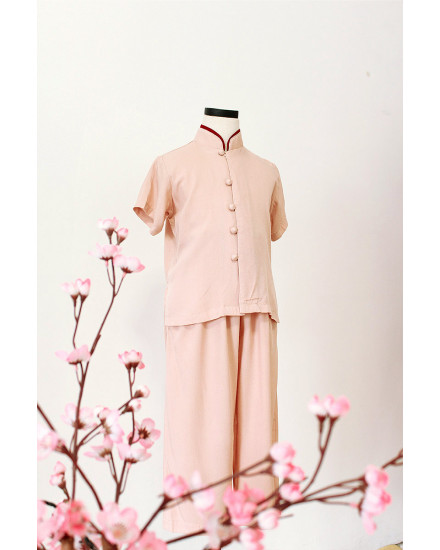 Mini Quo Qipao Set Shirt+Long Pants