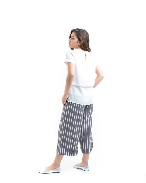 lowy back fold top white