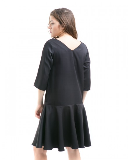alva reversible dress black