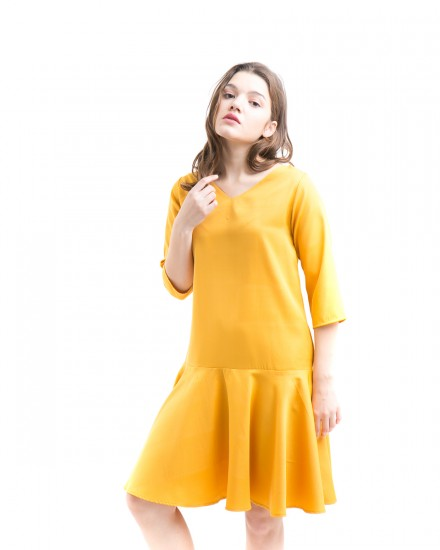 alva reversible dress yellow