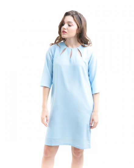 3 loops dress blue