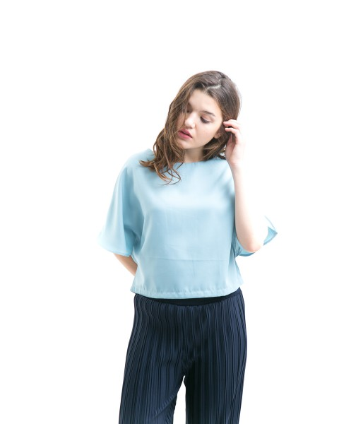 mixa crop top blue