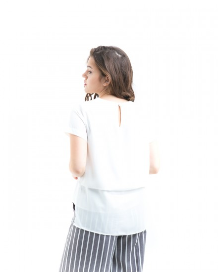 lowy back fold top white