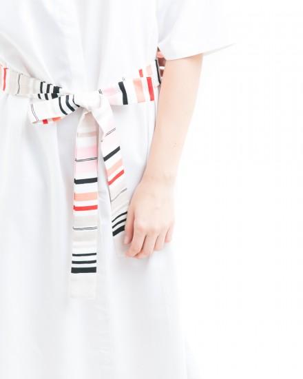 oka kimono dress white