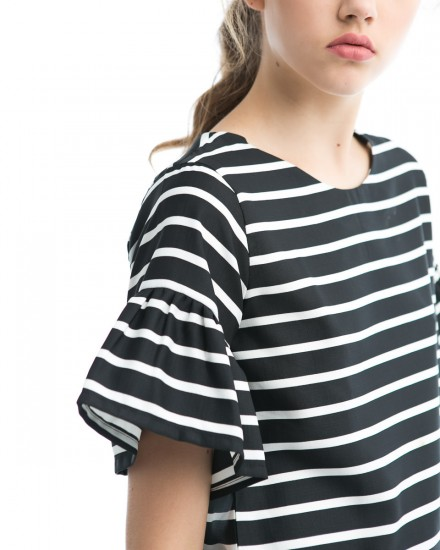 puff top black stripes