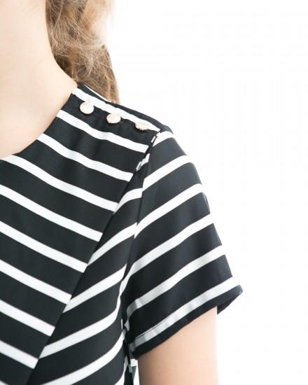 zrqqy top stripes black
