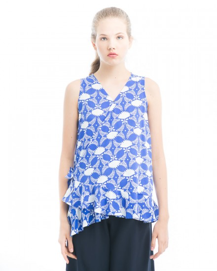 chioe side knot top flower