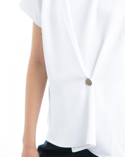 adam button top white
