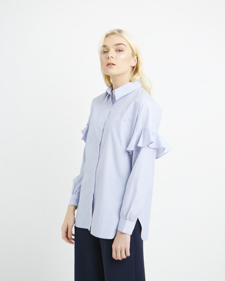 waren shirt blue stripes