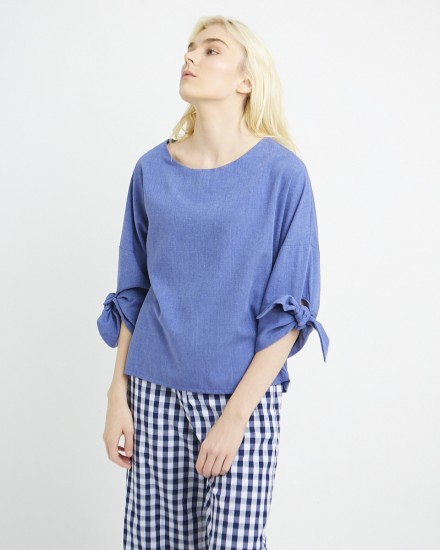 brielle top blue
