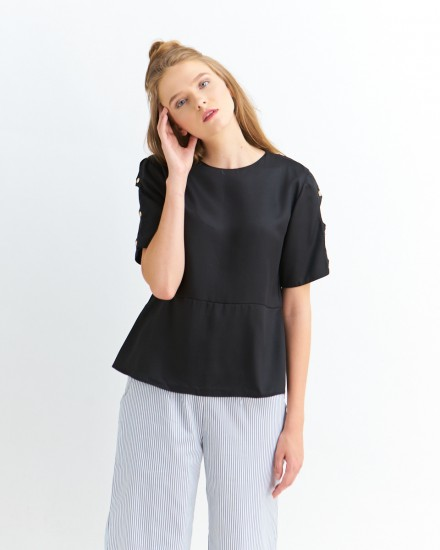 allan button sleeves black