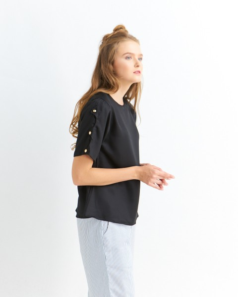 allan button sleeves black