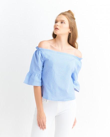 nara sabrina gingham blue