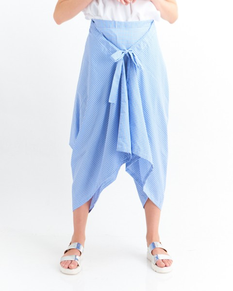 keira pants gingham blue