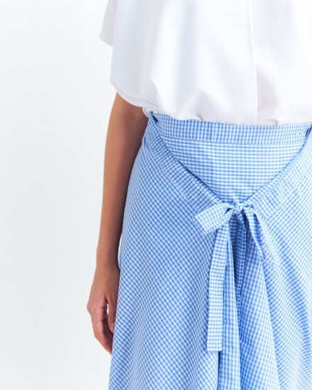 keira pants gingham blue