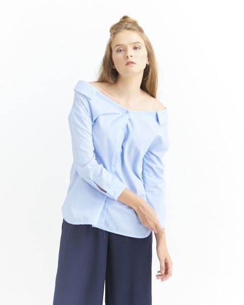 monty oversize shirt blue