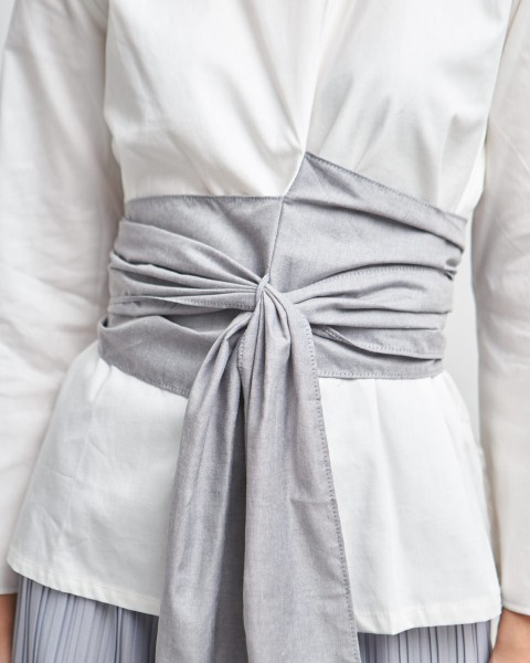 makoto obi top white