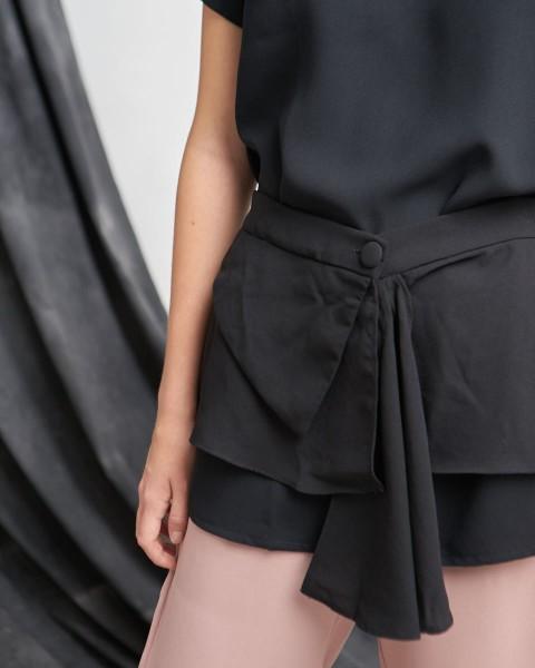 monda apron top black