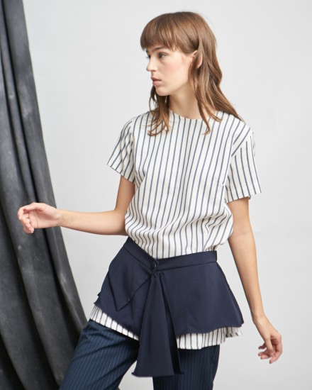 monda apron top stripes