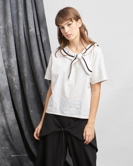 sailor top white