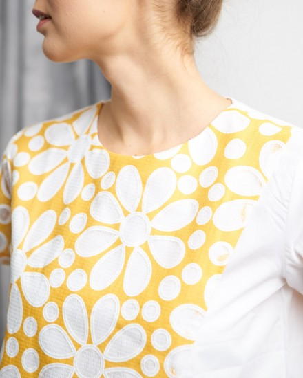 brusel top yellow