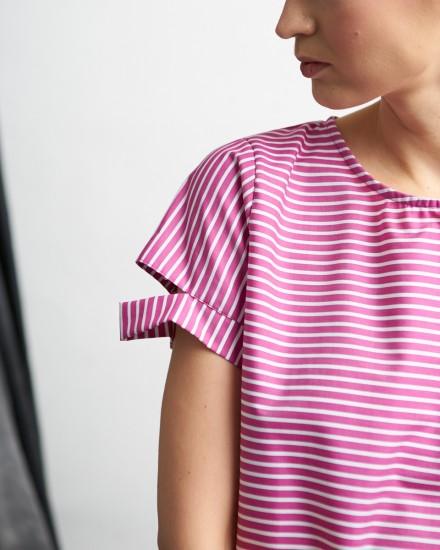 vebel top plum stripes