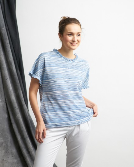 jerome pleats top blue