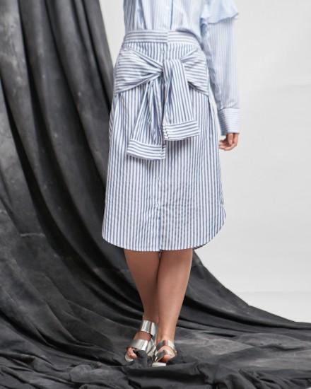 skirt shirt blue