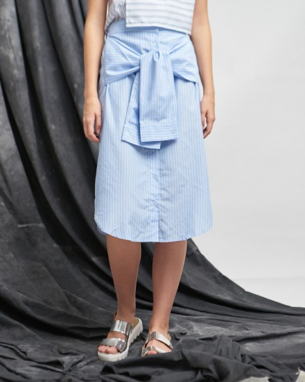 shirt skirt blue