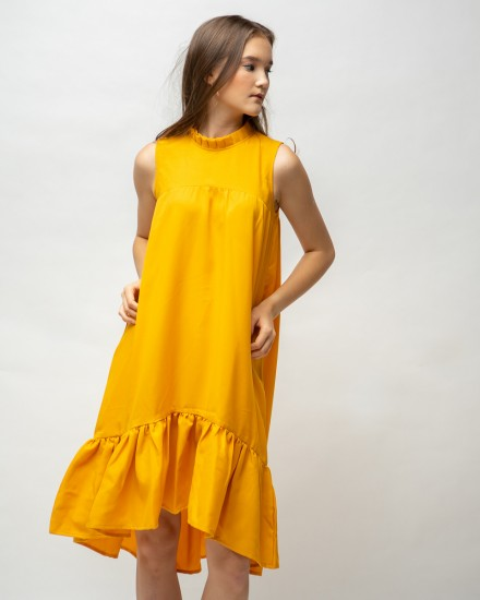 falya dress mustard