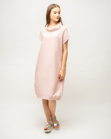 rolley dress dusty pink