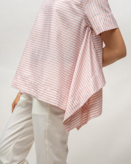 handkerchief top salmon stripes