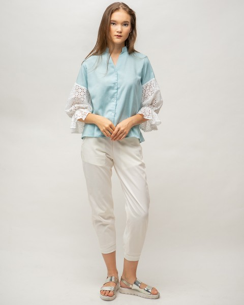 perla top blue