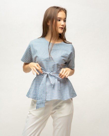 nadara top blue stripes
