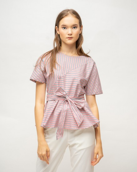 nadara top pink stripes
