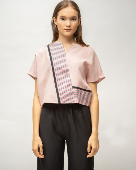 zetta top dusty pink
