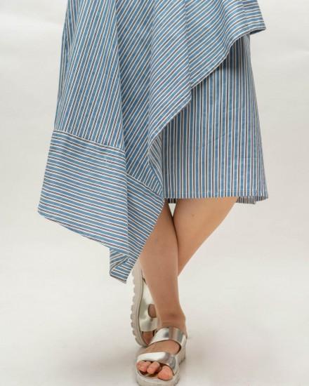 kyve skirt blue stripes