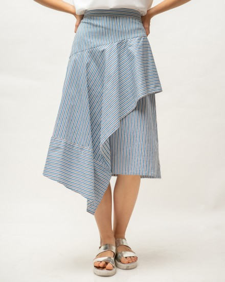 kyve skirt blue stripes