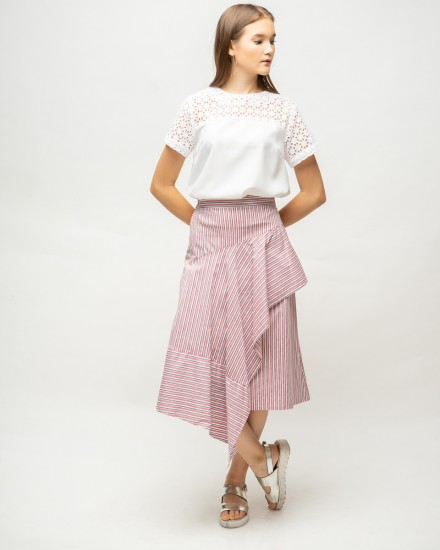 kyve skirt pink stripes