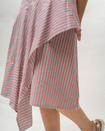 kyve skirt pink stripes