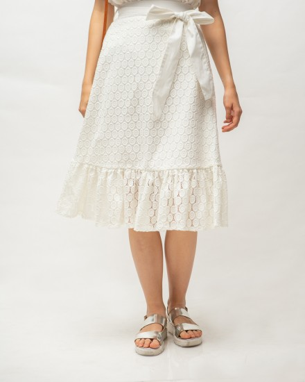 sachi skirt white